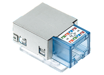 R&M R313064 Connection Module Real10 Cat.6, 1xRJ45/u, 10x