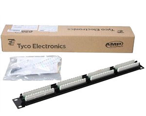 AMP Patch Panel RJ45 кат.5e UTP 24-порт. (AMP 0-0406330-1)