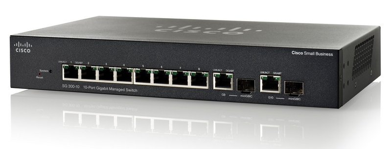 Коммутатор Cisco SG 300-10 10-port (SRW2008-K9-G5) 10-port Gigabit Managed Switch