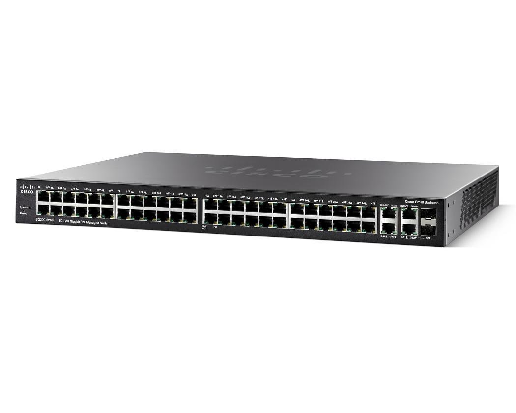 Коммутатор Cisco SG300-52MP-K9-EU 52x GE Ports (2 GE Combo including) MAX POE Switch