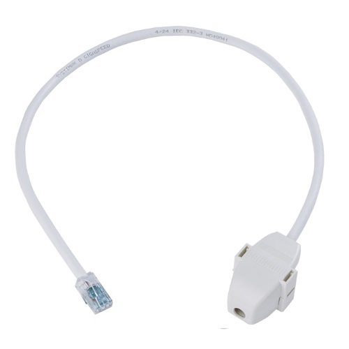 AMP 760235590 Category 6A U/UTP Cord, LSZH , RJ45 to Ceiling connector, 1.5 ft, white Купить