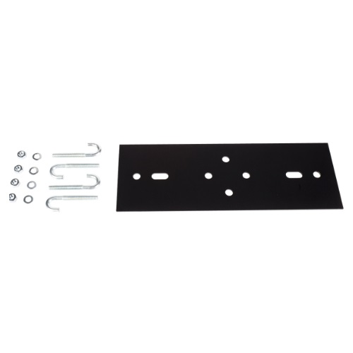 AMP 760084053 Runway to Rack Mounting Kit, 19 inch (482.6 mm) W, 5.375 inch (136.5 mm) D, black