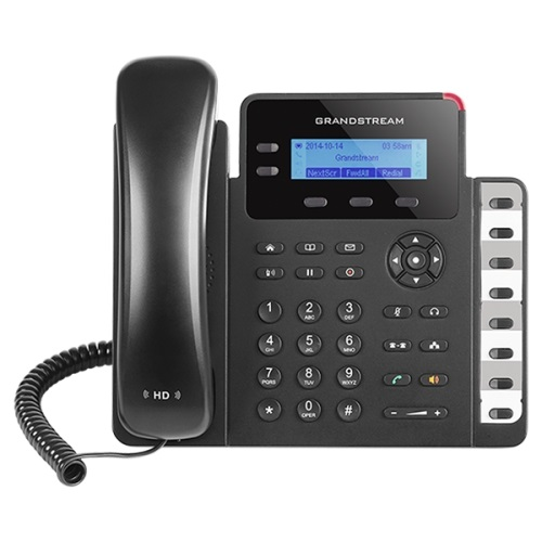 Grandstream GXP1628 IP Phone, 8 speed keysdual switched 100M/1000M Ethernet ports, POE, HD with