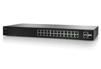фото   Коммутатор Cisco SB SF102-24 (SF102-24-EU) 24-Port 10/100 Switch with Gigabit Uplinks